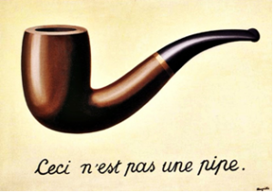 Ceci n'est pas une pipe. René Magritte (1948)