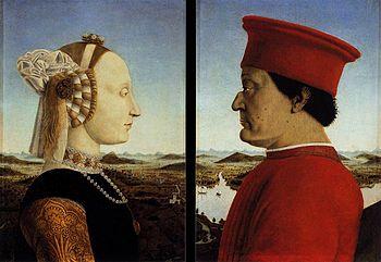 Piero della Francesca - Doppio ritratto dei duchi d'Urbino